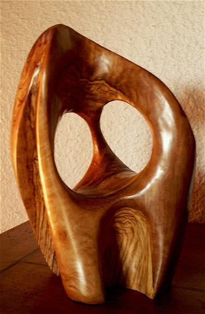passage iii olivier 13x13x30 cm abstrait galerie sculpture sur bois d 39 olivier pierre d grange. Black Bedroom Furniture Sets. Home Design Ideas